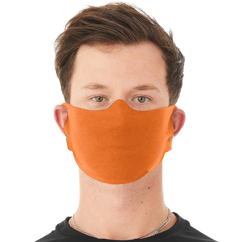 Anti-Microbial Face Mask -Orange - IN STOCK