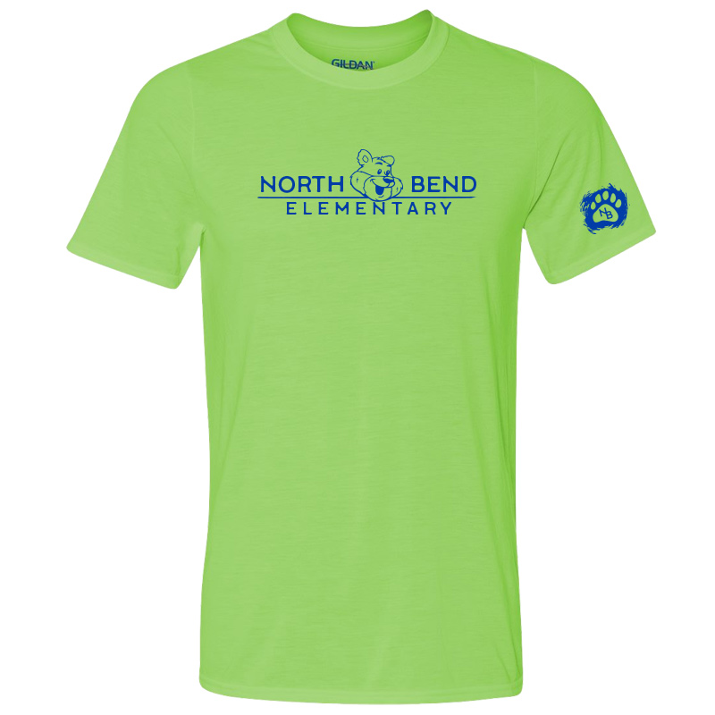 North Bend Elementary Performance Adult T-Shirt (Youth and Adult)  - lime