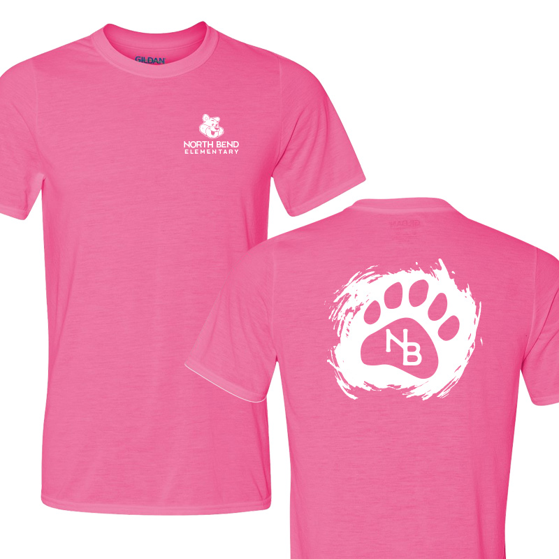 North Bend Paw  Performance Adult T-Shirt (Youth and Adult)  - spink