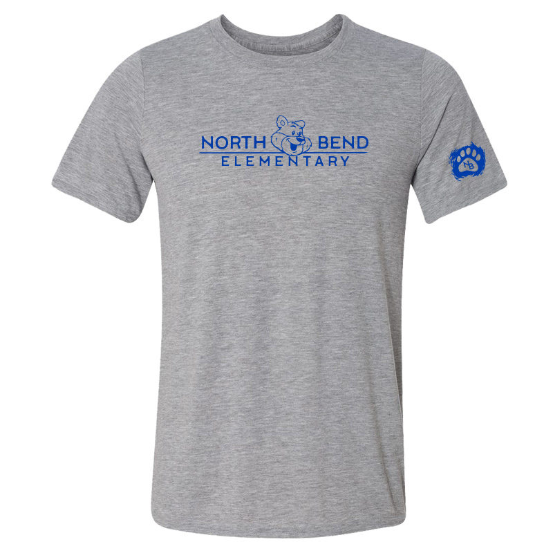 North Bend Elementary Performance Adult T-Shirt (Youth and Adult)  - sportgrey