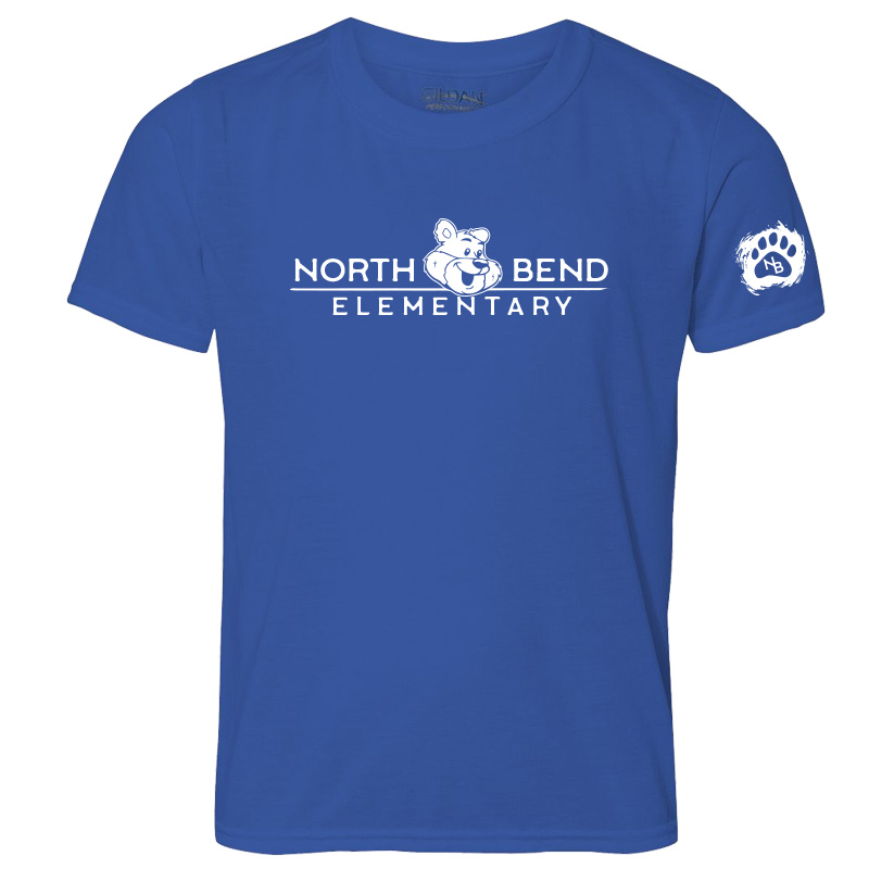 North Bend Elementary Performance Adult T-Shirt (Youth and Adult)  - royal