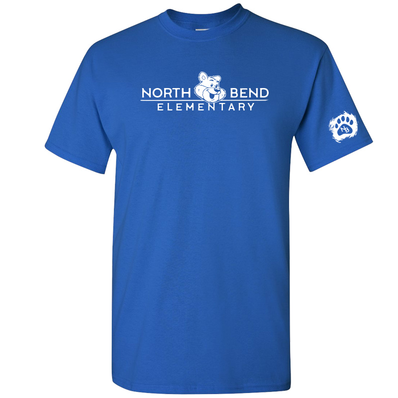 North Bend Elementary Cotton Adult T-Shirt (Youth and Adult)  - royal