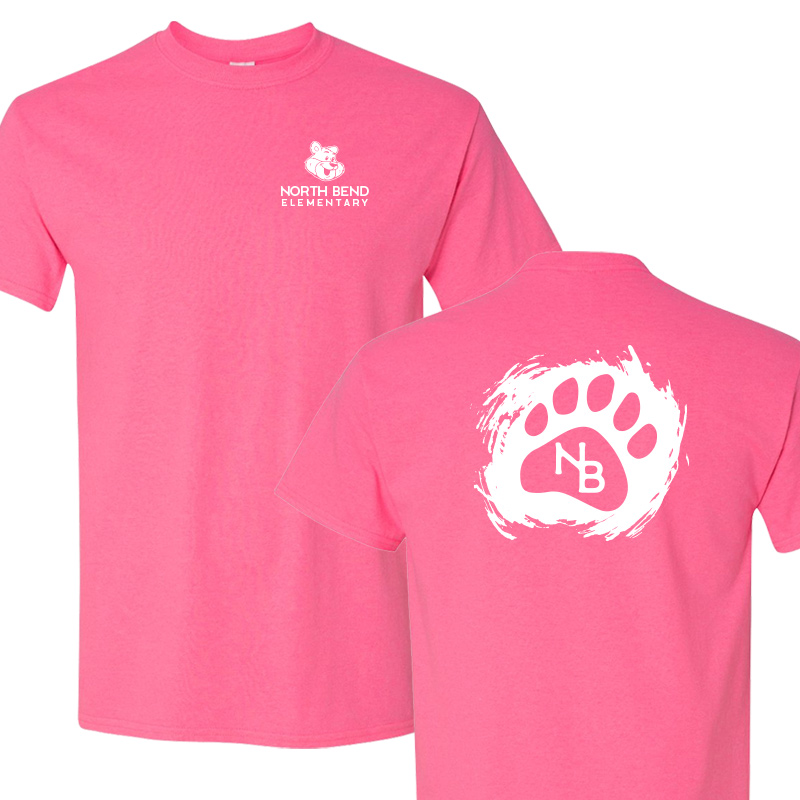 North Bend Paw  Cotton Adult T-Shirt (Youth and Adult)  - spink