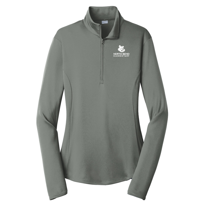 North Bend Logo Ladies PosiCharge Competitor 1/4-Zip Pullover - greyconcrete