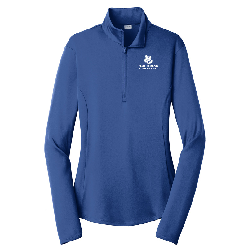 North Bend Logo Ladies PosiCharge Competitor 1/4-Zip Pullover - Royal
