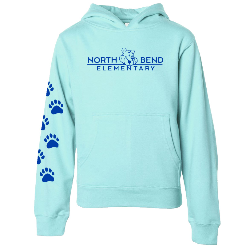 North Bend Elementary Pullover Hoodie (Youth and Adult)  - mint