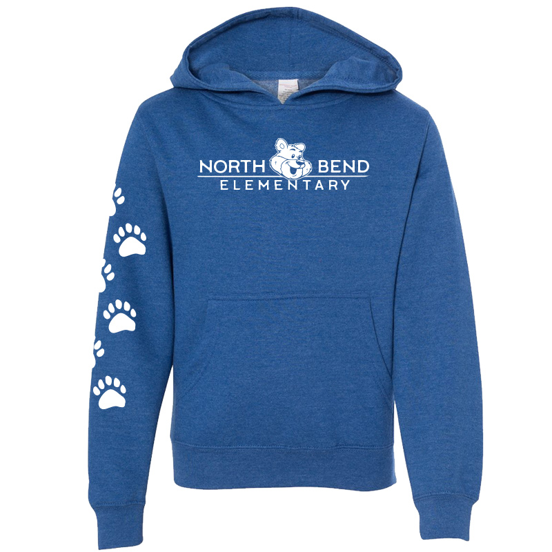 North Bend Elementary Pullover Hoodie (Youth and Adult)  - royal heather