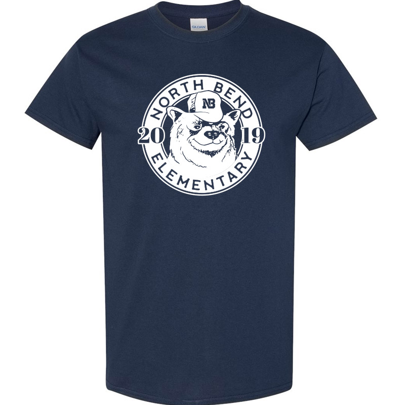 North Bend 2019 Circle  Cotton Tee - Navy