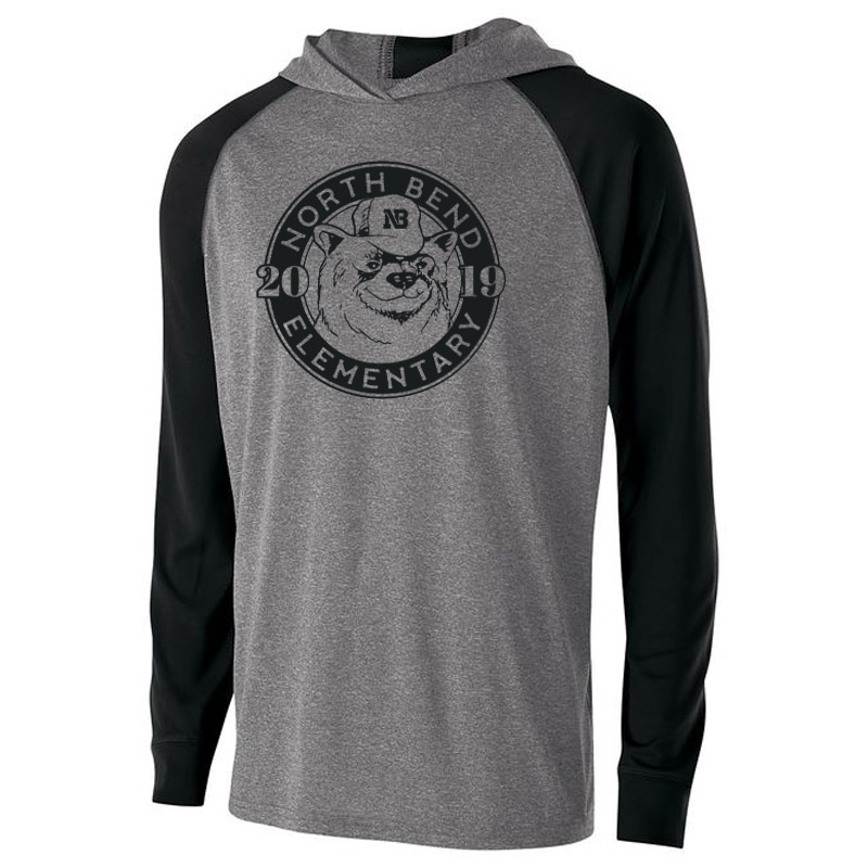 North Bend 2019 Circle  Echo Hoodie - Heather Black