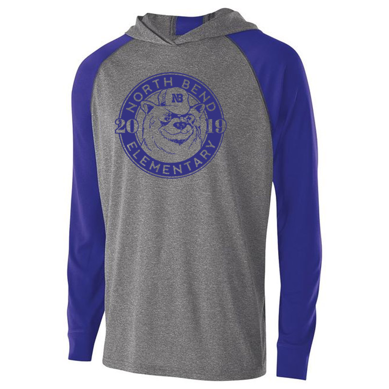 North Bend 2019 Circle  Echo Hoodie - Heather Purple