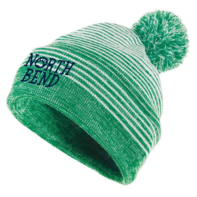 North Bend Paw Beanie- Kelly/White