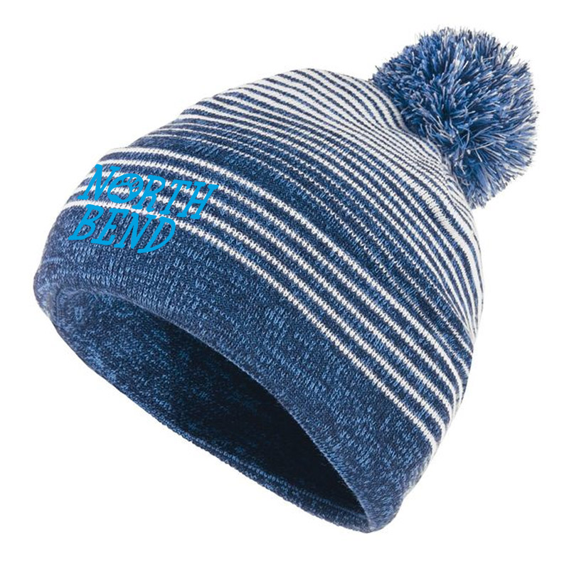 North Bend Paw Beanie- Navy White