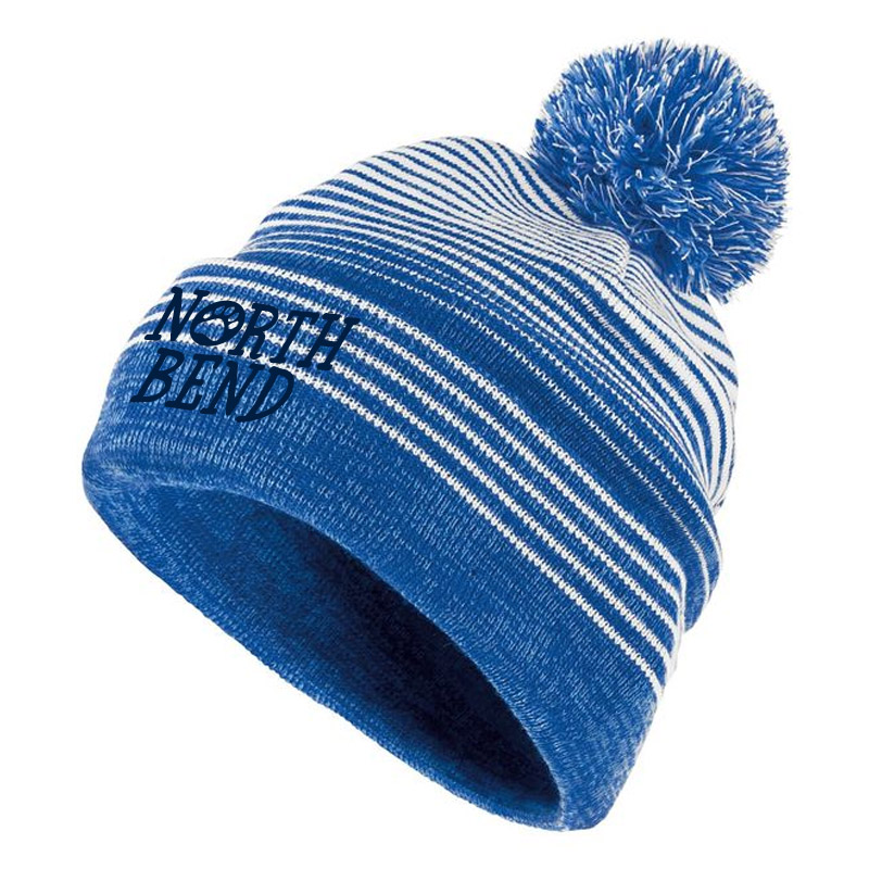 North Bend Paw Beanie- Royal/White