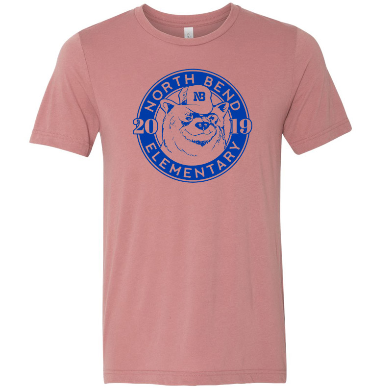North Bend 2019 Circle  Triblend Tee- Mauve