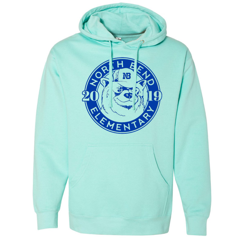 North Bend 2019 Circle  Midweight Hooded Sweatshirt- Mint