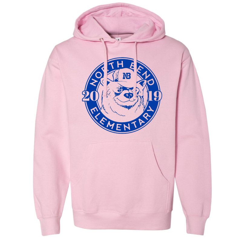 North Bend 2019 Circle  Midweight Hooded Sweatshirt- Light Pink