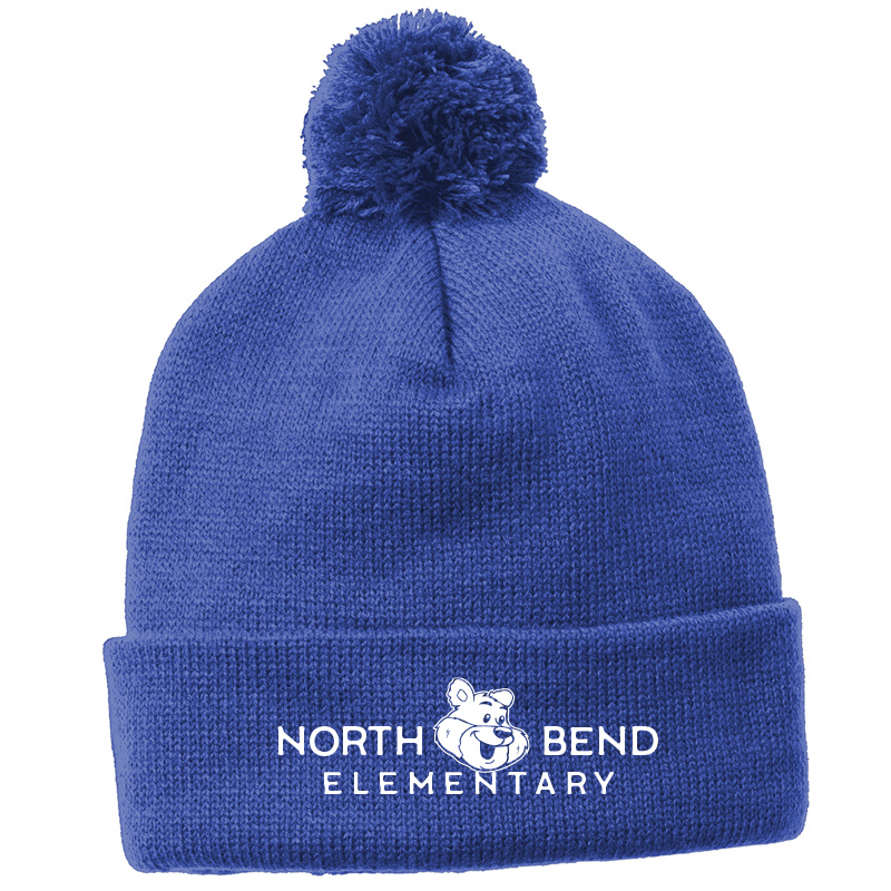 North Bend Hats  Sport-Tek ® Solid Pom Pom Beanie - Royal