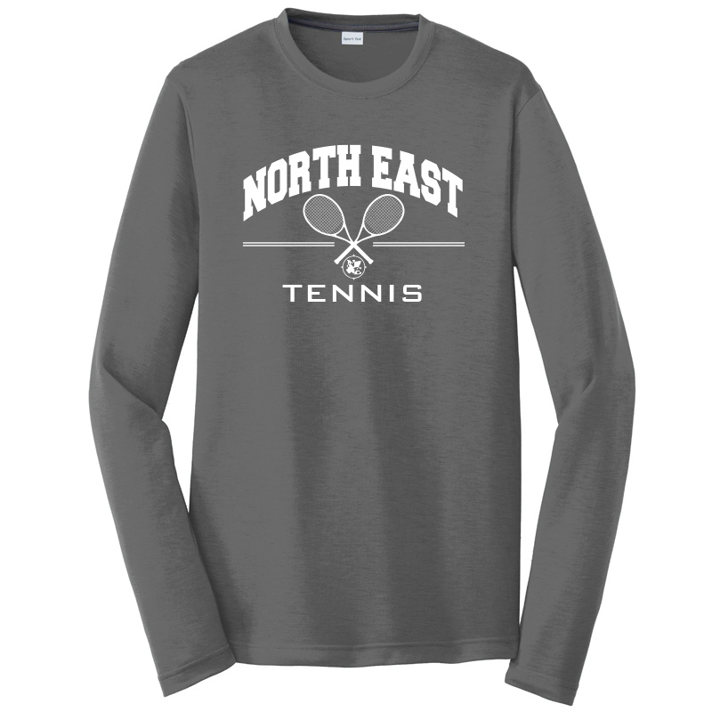 North East Tennis Long Sleeve Cotton Touch Tee  - Dark Smoke Grey