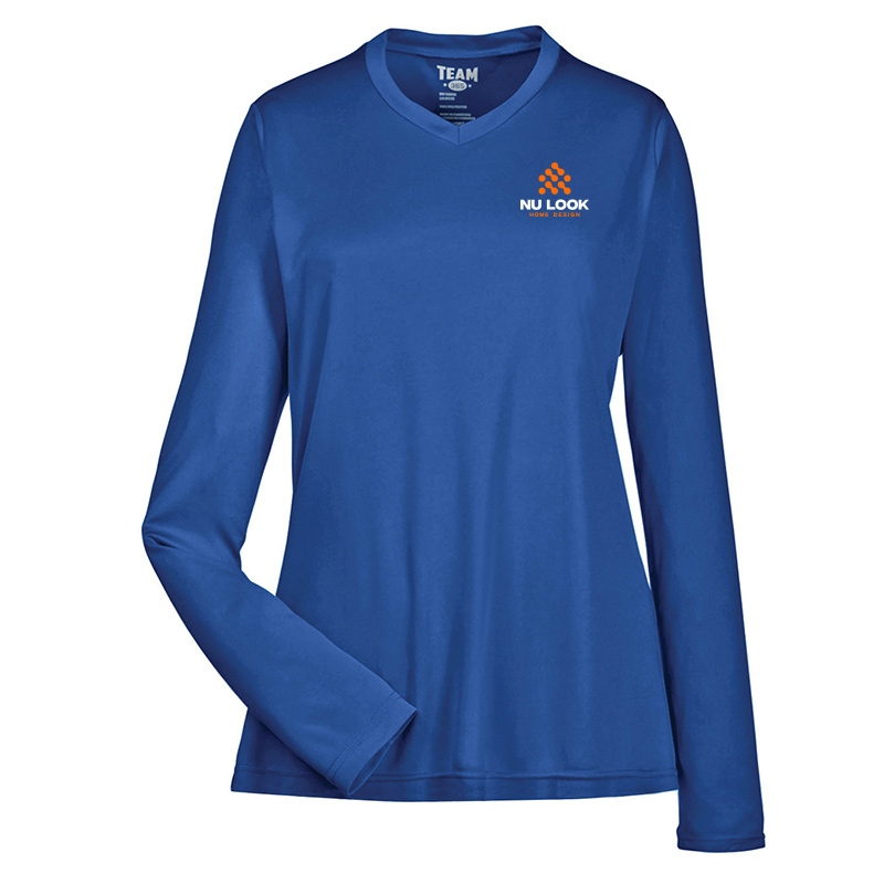 Nu Look Home Design Team 365 Ladies' Zone Performance Long-Sleeve T-Shirt - Sport Royal
