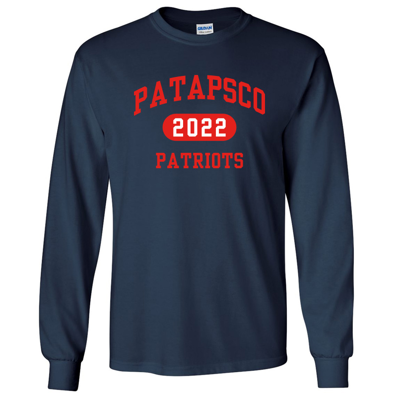 Patapsco High School Long-Sleeve T-Shirt - Navy