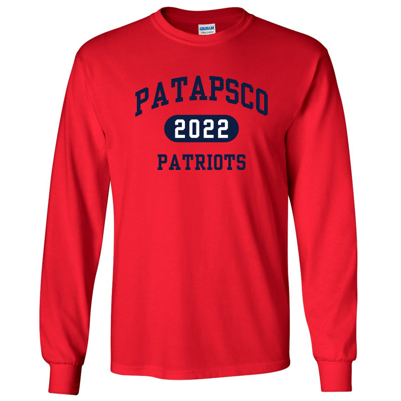 Patapsco High School Long-Sleeve T-Shirt - Red