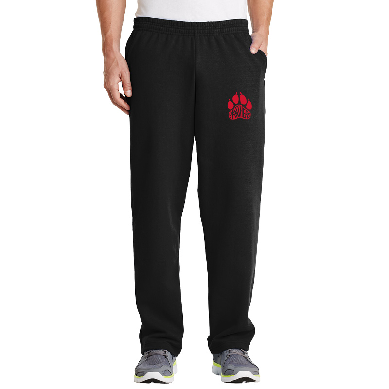 Perry Hall Middle Core Fleece Sweatpant with Pockets - Black