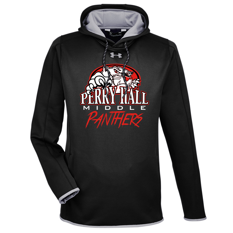 Perry Hall Middle Under Armour Men's Double Threat Armour Fleece® Hoodie - Black