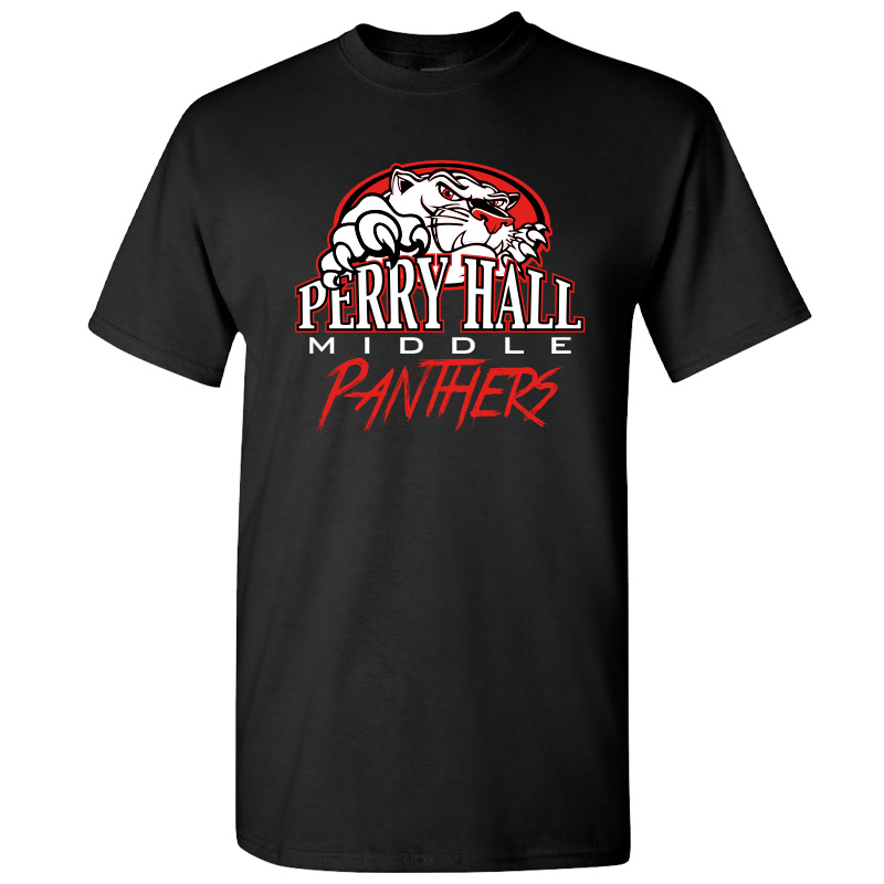 Perry Hall Middle Short Sleeve Cotton Tshirt - Black