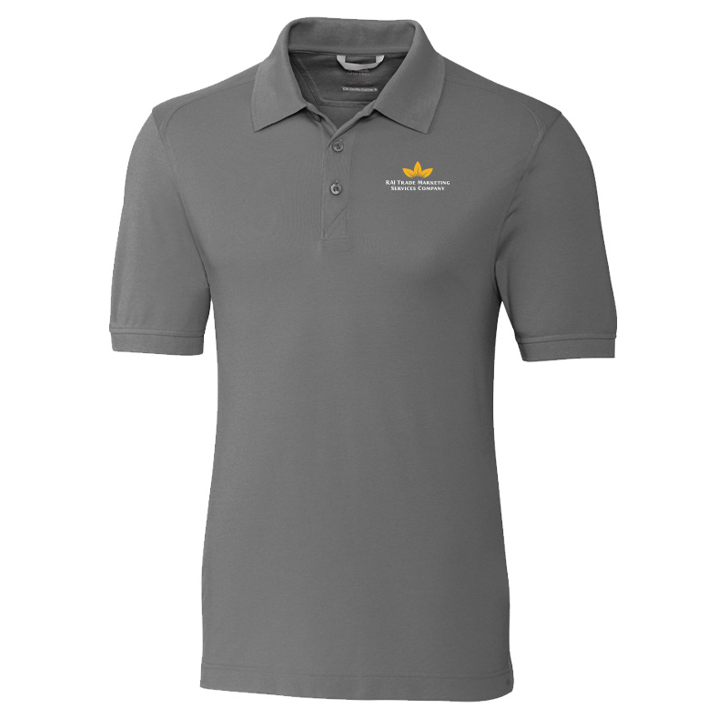 RAI Trade Marketing Cutter & Buck Mens Advantage Polo - Grey with White Text