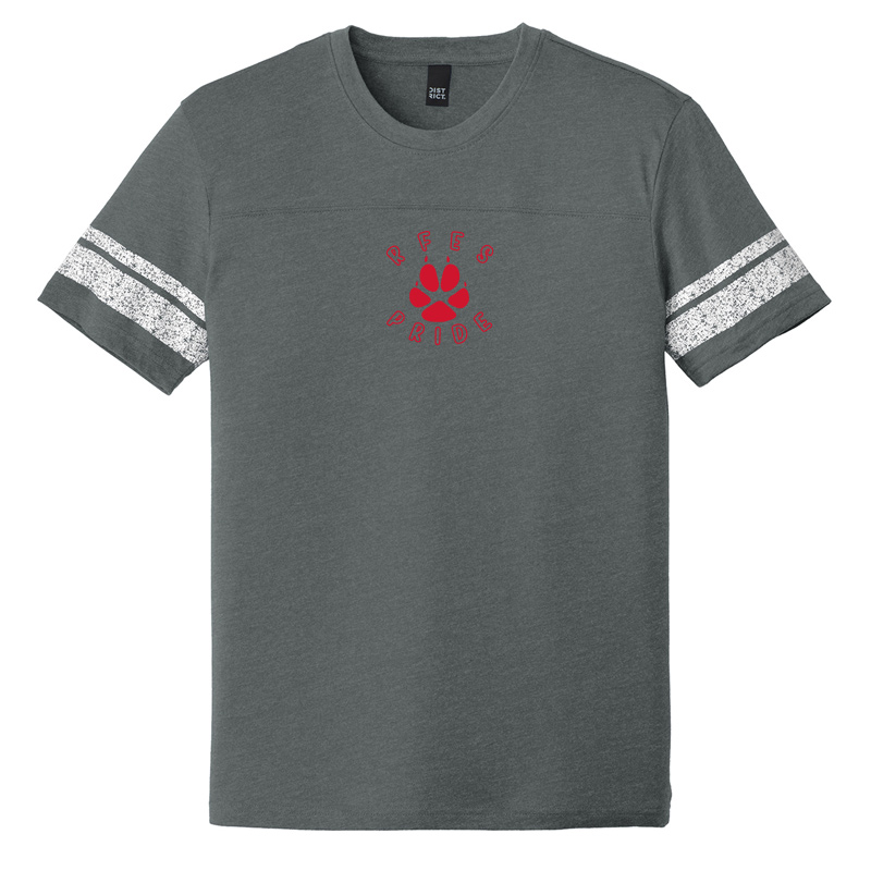 Ring Factory Elementary Game Tee - heathered Charcoal/ White