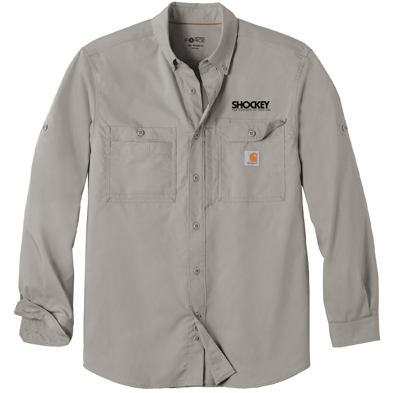 Shockey Men's Carhartt Button-Up - Asphalt