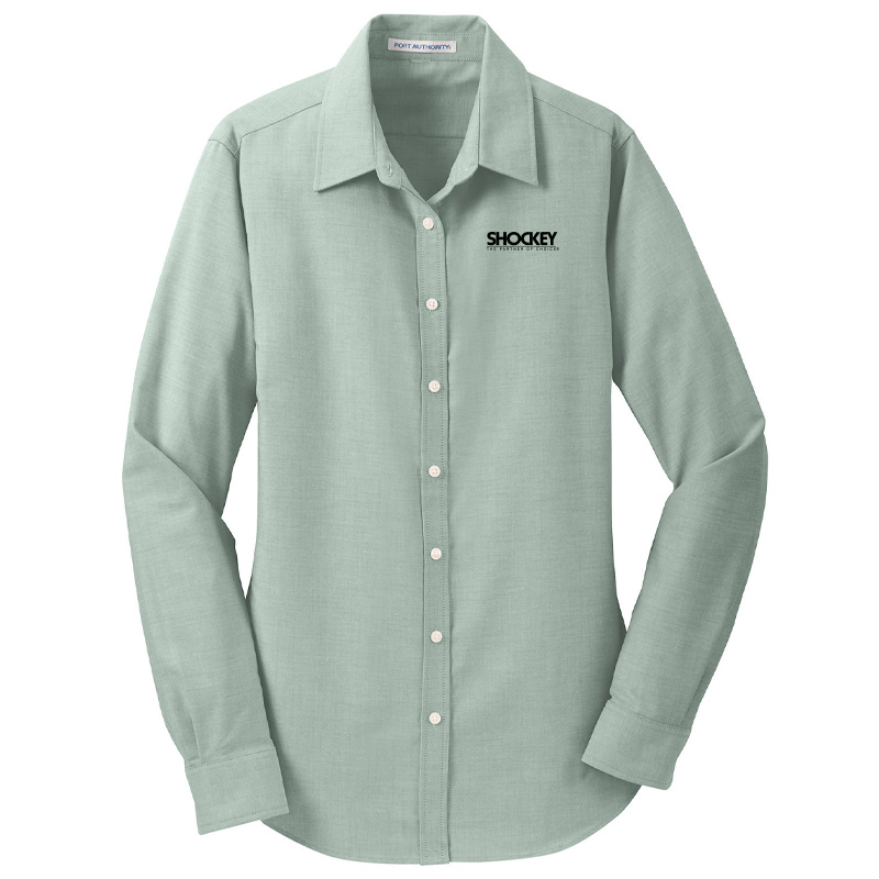 Shockey Women's Long-Sleeved Oxford - Green