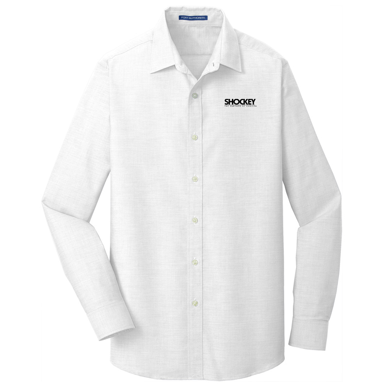 Shockey Men's Slim Fit Oxford Long Sleeve - White