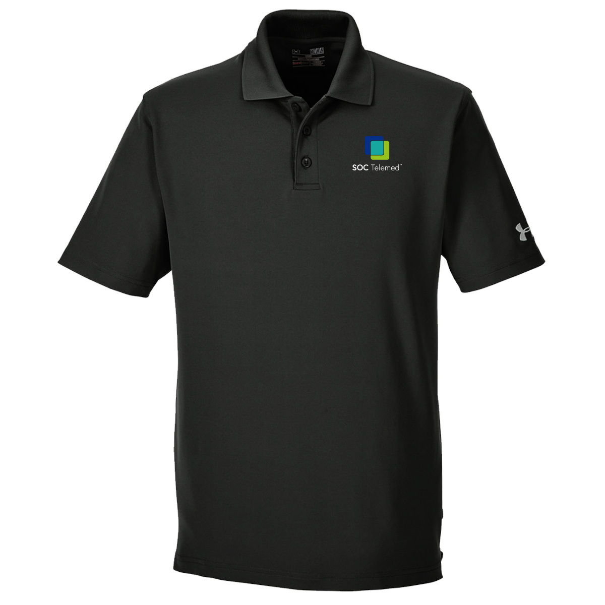SOC TELEMED Men's UA Performance Corp Polo - Black