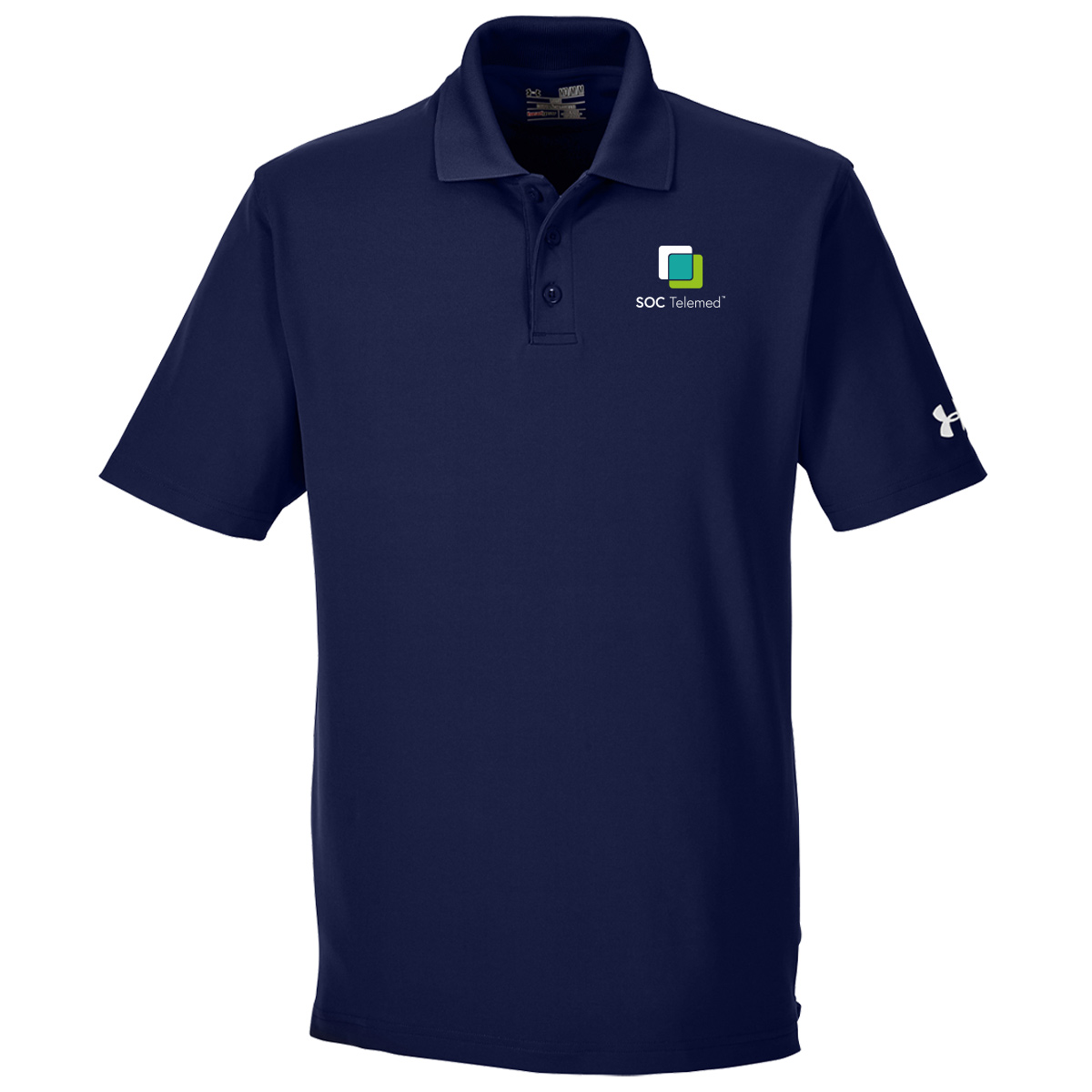 SOC TELEMED Men's UA Performance Corp Polo - Navy