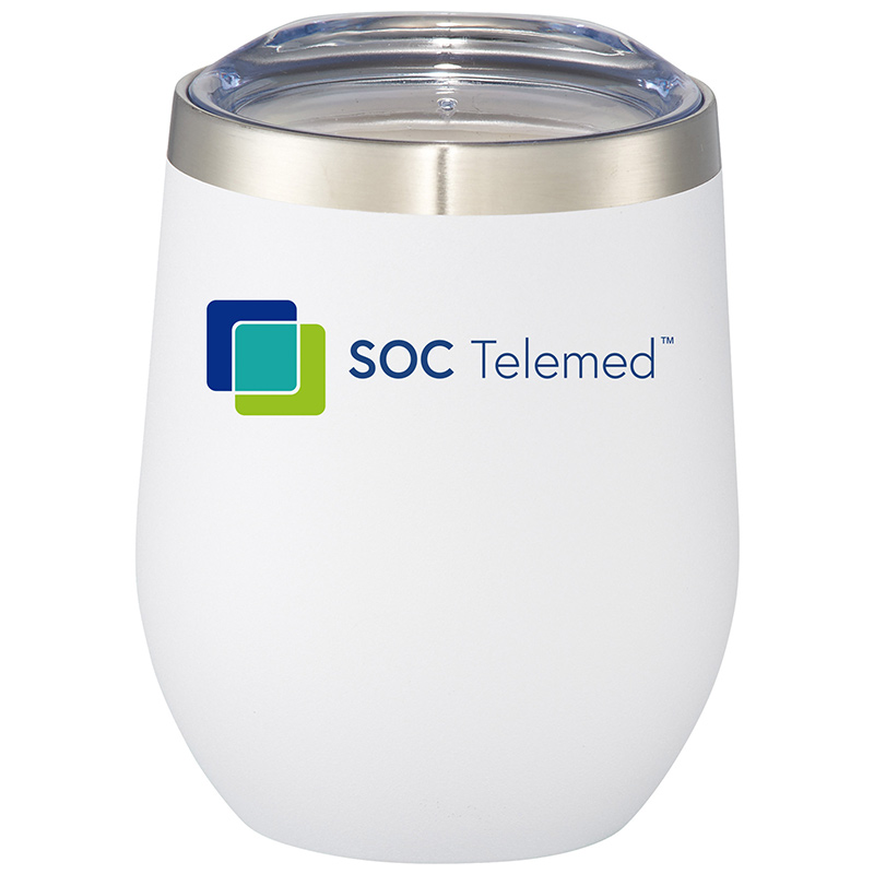 SOC Telemed Corzo Copper Vacuum Insulated Cup 12 Oz - White