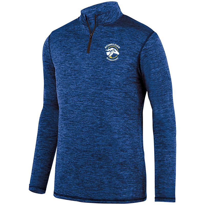 Stoneleigh Elementary 1/4 Zip Heather  Pullover-Royal
