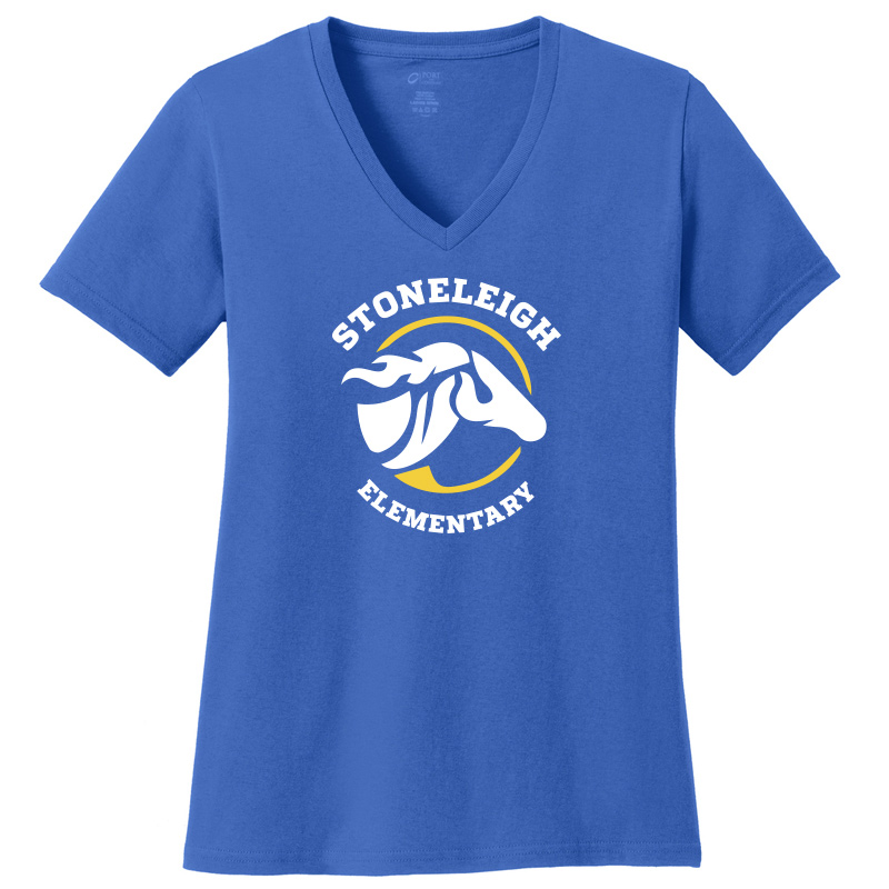 Stoneleigh Elementary Ladies Short Sleeve V Neck-Royal