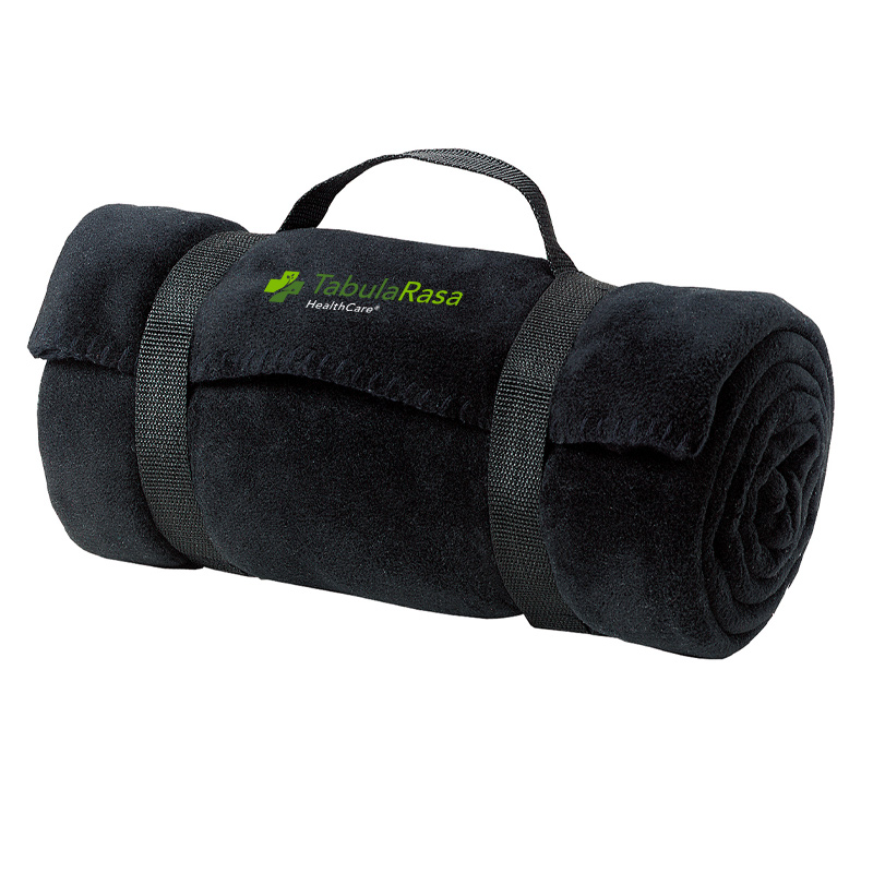Tabularasa Port Authority® - Fleece Blanket with Strap - Black