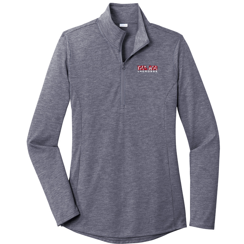 Belair Lacrosse Tri-Blend Wicking 1/4-Zip Pullover