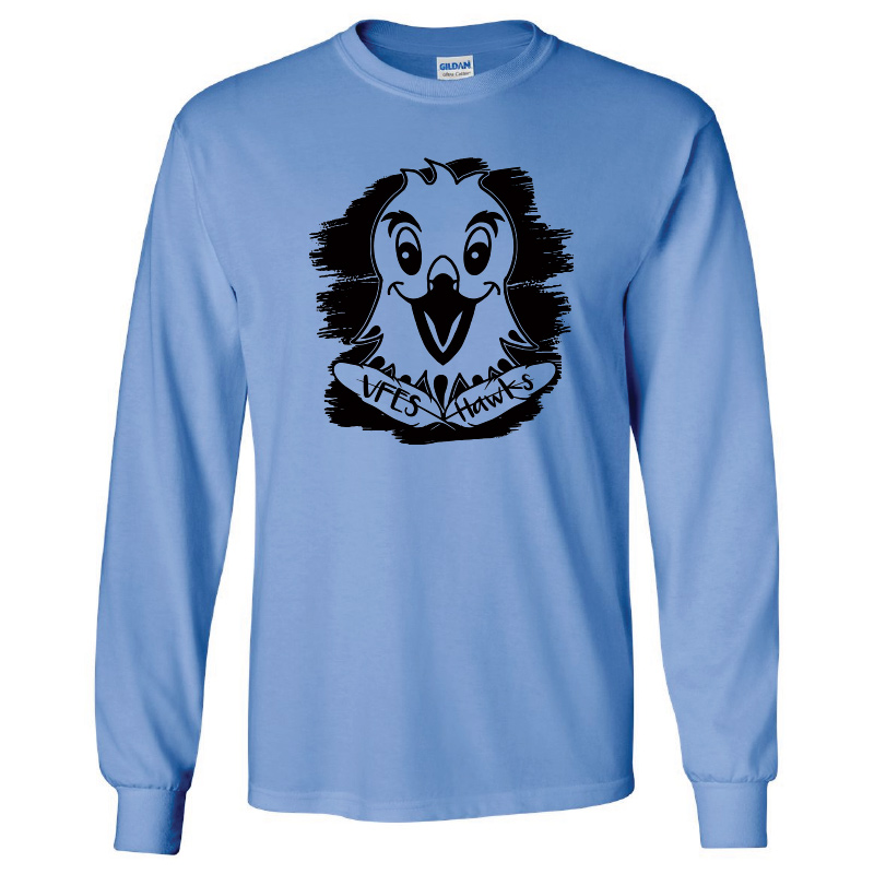 Vincent Farm 100% Cotton Long Sleeve Tshirt - Carolina Blue