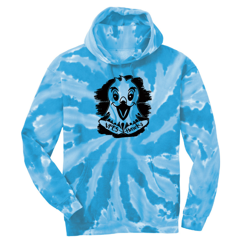 Vincent Farm Pullover   Tie Dye Hoodie - Turquoise
