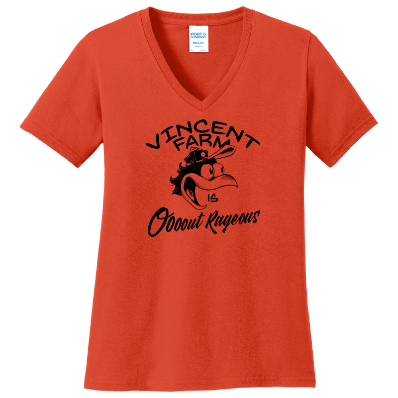 Vincent Farm Outrageous-Ladies V-neck