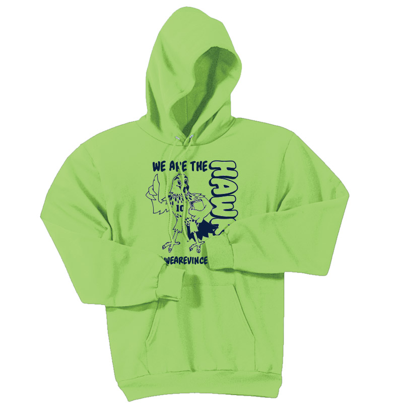 We are the Hawks Hoodie - Safety Green