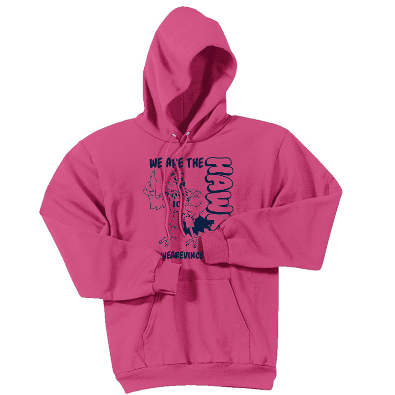 We are the Hawks Hoodie-Safety Pink