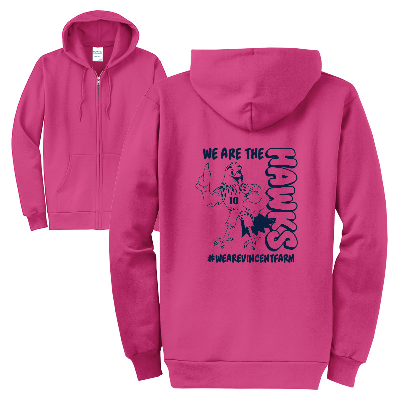 We are the Hawks Full - Zip-Safety Pink