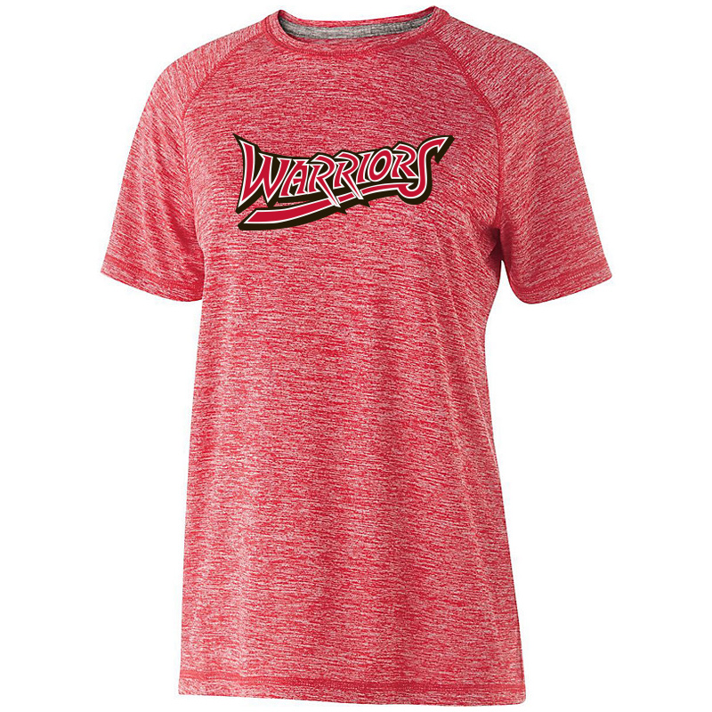 White Marsh Warriors Ladies Electrify Soft Wicking Shirt-Red