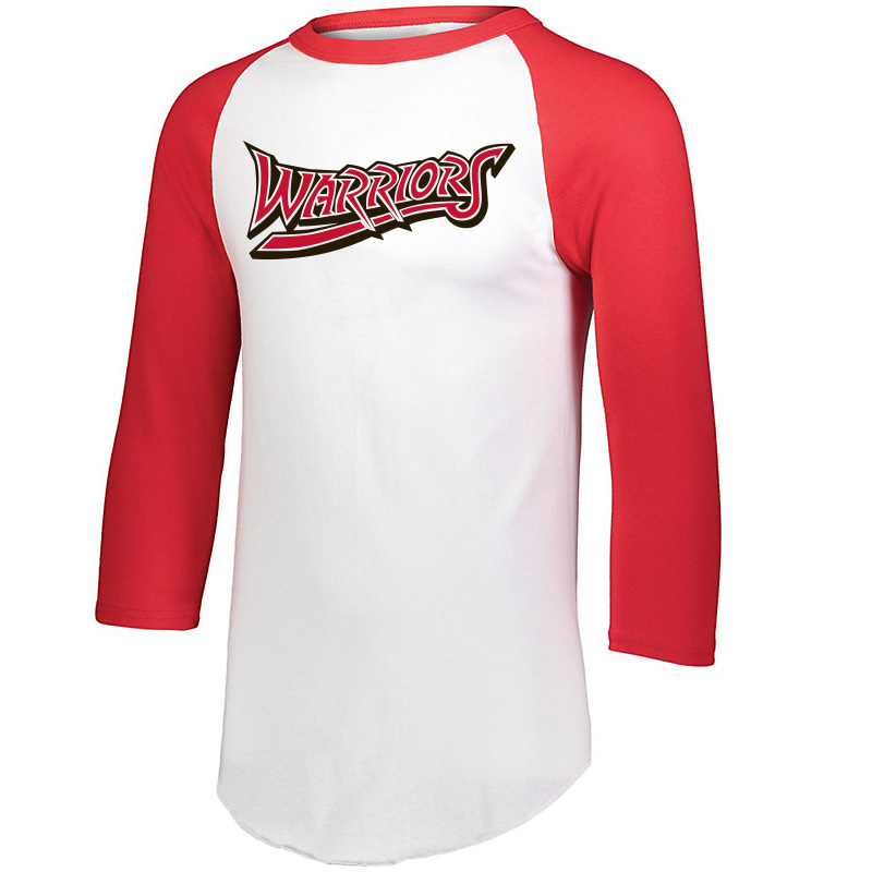 White Marsh Warriors 3/4 Sleeve Baseball Shirt-Red