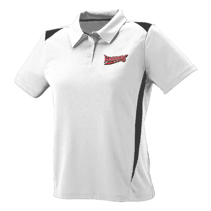 White Marsh Warriors Ladies Premier Polo-White