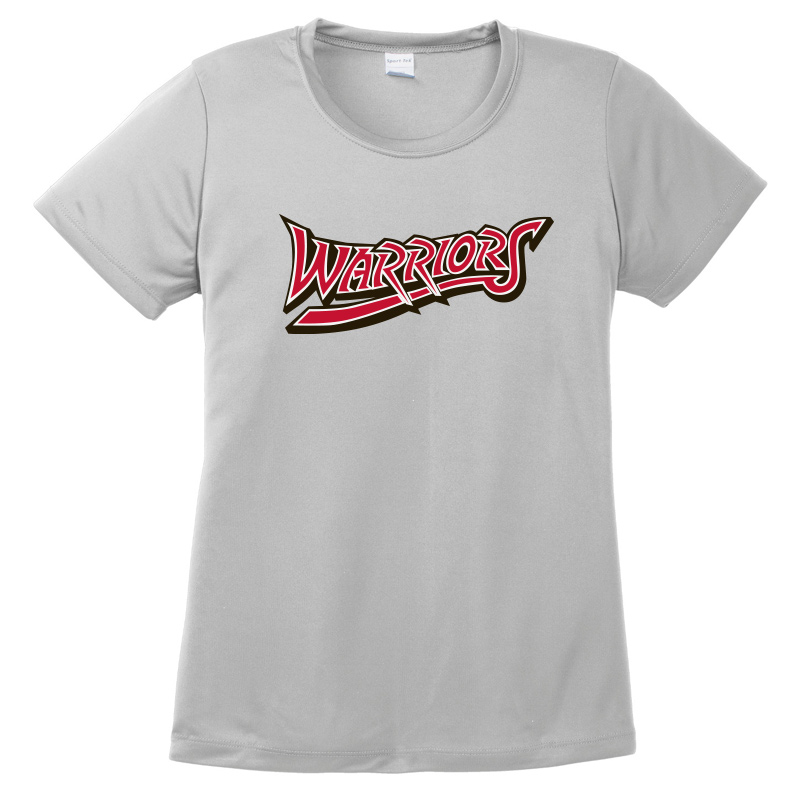 White Marsh Warriors Ladies Solid Performance Tshirt-Silver